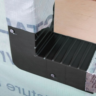 2 x 4 Back Rib Window & Door Corner Sill Pan Flashing